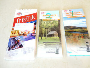 Three Eastern USA Maps - One Multiple Map Trip Tik + 2 Others