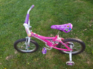 "Girl's bicycle 16""  (16 inches)"