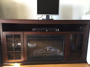 TV Stand electric  fire place with remote control
