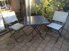 Grey Aluminum 3 Piece Folding Outdoor Setting Beckenham Gosnells Area Preview