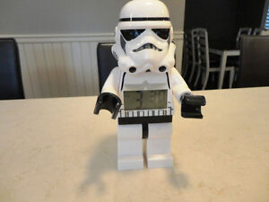 "Star Wars Lego Stromtrooper Alarm Clock - Mint Shape  9.25"" Tall"