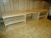 New Hand Made Solid Wood Entry Bench - 6 feet wide