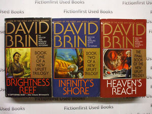 """Second Uplift Trilogy"" by: David Brin"