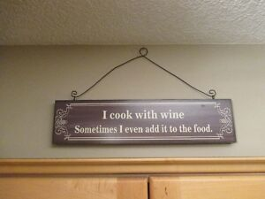 Wine Hanging Wall Sign