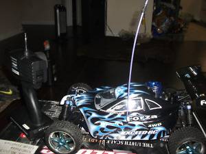 Slightly used Nitro RC buggy all wheel drive trade for laptop