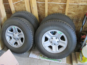 Snow / Winter tires for Jeep and others, with mopar steel wheels