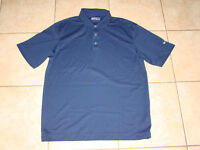 NIKE GOLF FIT DRY NAVY GOLF SHIRT SIZE LARGE