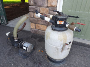 For sale pool pump and filter