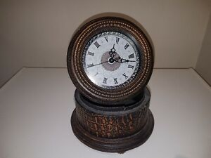 Clock on storage box round box