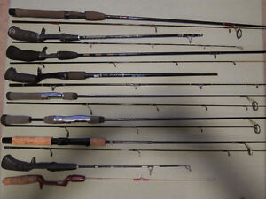Various fishing rods. See below for details and pricing.