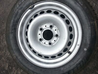 BMW E36 3 Series Spare Tire with brand new steelie and good tire