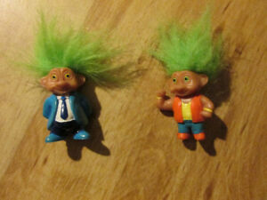 TROLL DOLL Soma Lot Vintage 1990s Toy Small 3-4 inches