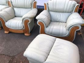 Mint leather suite