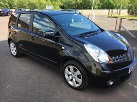 0808 Nissan Note 1.4 16v Acenta R Black 5 Door 71683mls MOT 12m