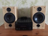 Denon micro system stereo DAB iPod iPhone dock Tannoy Speakers