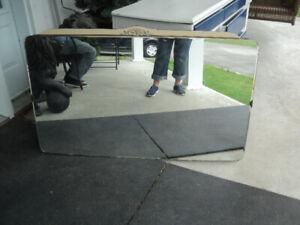 miroir biseauté pour bureau ancien