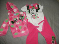3 piece Minnie Mouse outfit Size 24 mth