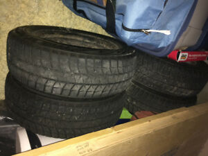 4 Bridgestone Blizzak Tires with rims - 15inch