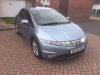 Honda civic 2007 2.2 CDTI diesel sport BLUE 5 door cat d damaged repaired