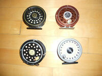 Moulinets pour canne mouche, 65$ 75$etc, Fly reels for rods