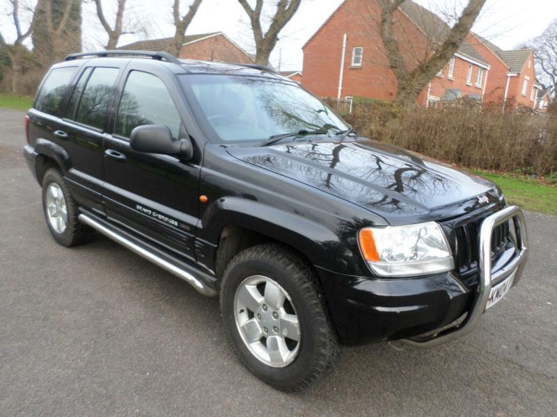 821dadfbb5 2004 JEEP GRAND CHEROKEE 2.7 CRD LTD 4X4 AUTO LONG MOT FSH RARE BLACK PX  SWAP