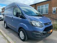 2015 65 Ford Transit Custom 2.2 TDCI 125PS Hi Roof L1 H2 Blue Turbo Van NO VAT