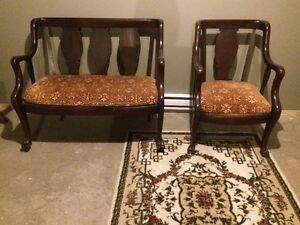 1900's bench and chair