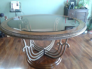 Glass Dining Room Table -Round