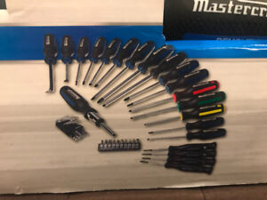 Mastercraft screwdriver, driver & bit set 40 piece