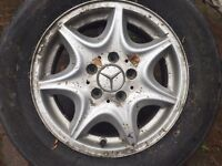 4 Mercedes alloy wheels and 4 tyres for sale