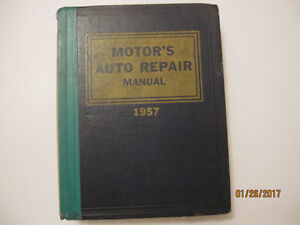 1957  Motor's Auto Repair manual
