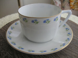DELICATE VINTAGE WAFER-THIN BAVARIAN TEA CUP AND SAUCER