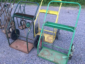 2 wheeled cylinder carts single & double