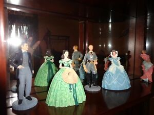 Franklin Mint Gone with the Wind Figurines with Display Cabinet West Island Greater Montréal image 4