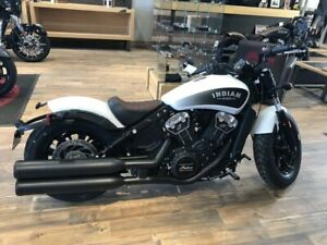 2019 Indian Motorcycle Scout Bobber ABS White Smoke