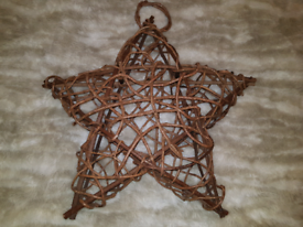 Wicker wooden large star decoration *Home furnishing.Shabby chic