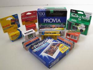 Film / Pellicules Pour Camera Argentique Tout les Formats,35,120