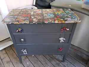 Comic book furniture refinishing