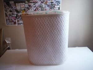 "Bathroom Hamper, Dimensions  20"" (L) X 12"" (W) X 22"" (H)"