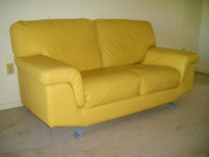 Top Grain 100% Leather Loveseat, Can Deliver