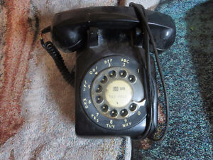 Antique rotary dial telephone
