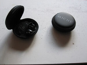 2 BRAND NEW EARPHONES, NOT USED.. with zippered carrying cases.