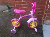 Peppa pig 2 in 1, 10 inch child training bike with stabilisers, 2years +