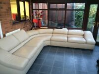 L shape couch.