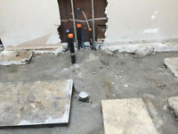 Concrete removal, demolition and concrete cutting
