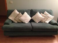 3 seater sofa, 2 armchairs and a footstool