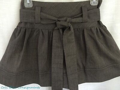 NEW! Free People TO THE MAX (SZ 2) Sable Lt Brown Short Mini Skirt RET $88.00