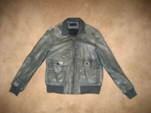 Banana Republic Men's Leather Bomber Jacket/Coat