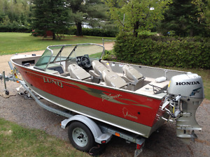 2004 Lund , boat ,motor and trailer