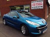 PEUGEOT 207 CC 1.6 16v 120 COUPE SPORT CONVERTIBLE WITH FULL SERVICE HISTORY